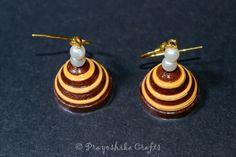 Prayoshika Crafts: Double color plain Jhumka ...  Model No. - PCQJ...