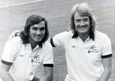 British footie legends, Rodney Marsh and George Best in their Fulham days.