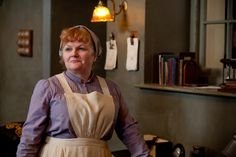 Mrs Patmore, the cook, is still firmly in charge of the kitchen and kitchen staff and religiously defends her rights and privileges, against all comers. Steeped in the traditional ways of doing things she is distrustful of all technology and, unlike Daisy, she views any new gadget as an enemy, fearing such developments may one day put them all out of work. Played by Lesley Nicol.
