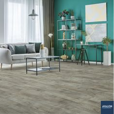 "Trendsetter 7.48"" Water-Resistant Laminate Flooring in Manchester 