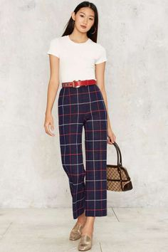 Vintage Had a Plaid Day Pants - Vintage