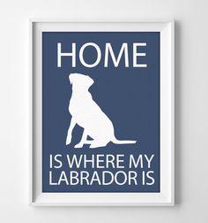 8 x 10 Labrador Wandkunst illustrierte Hund Kunst Dekor von pigknit