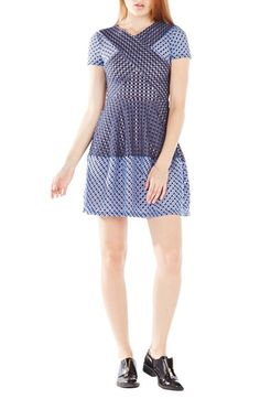 BCBGMAXAZRIA 'Elyze' Embroidered Jersey Fit & Flare Dress available at #Nordstrom