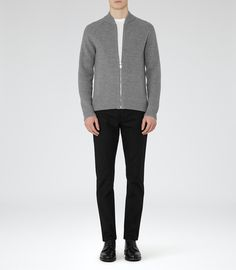 fbe55477d9 Reiss Typhoon Ribbed Cardigan Grey - XXL Reiss