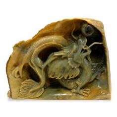Hand Carved Jade Dragon