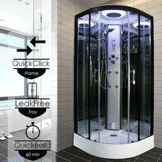 Insignia Steam Shower Cabin Enclosure Cubicle 900x900mm Quadrant 2nd Generation · $765.00 Steam Shower Cabin, Quadrant Shower, Steam Showers, Cubicle, Glass Door, Locker Storage, Home Decor, Decoration Home, Room Decor