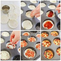 Easy Mini Tortilla Pizzas http://www.thecomfortofcooking.com/2014/04/easy-mini-tortilla-pizzas.html