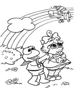 Feeding The Ducks Summer Coloring Pages Printables 1 Pinterest