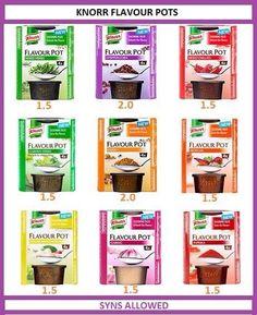Syns Knorr flavour pots