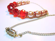 NECKLACE CRYSTALS Red Faceted Crystals Pink Pearls Red Crystal  FREE SHIPPING  #red #crystal #necklace #pearls #pink #jewelry #valentinesday #giftideas #giftforher #freeshipping #gift Crystal Bead Necklace, Crystal Bracelets, Crystal Beads, Beaded Necklace, Crystals, Red Jewelry, Rhinestone Jewelry, Jewelry Gifts, Beaded Jewelry