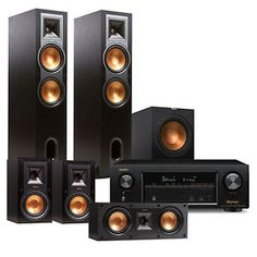 Denon AVR-X1300W 7.2 Channel Receiver with Klipsch R28F 5.1 Speaker Package | eBay