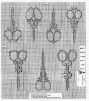 Blackwork Antique Scissors