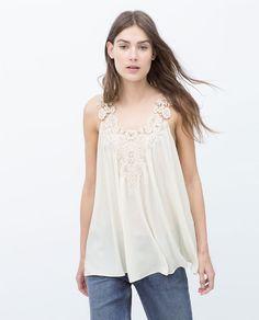 Imagem 3 de TOP PEITILHO CROCHÉ da Zara