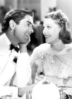 Tyrone Power and Loretta Young in Second Honeymoon (1937)