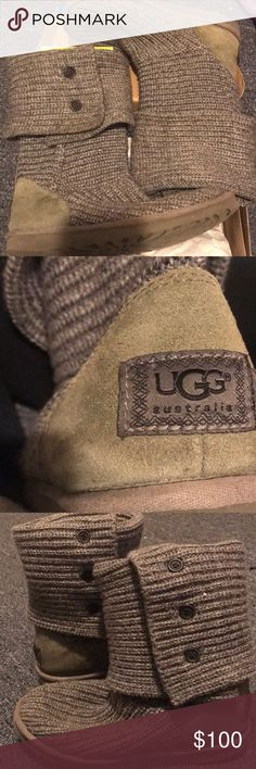 Ugg Knit boots Gray warm knit ugg boots. Price as always is negotiable :) UGG Shoes