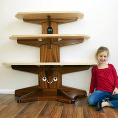 Happy Tree Bookshelf by graphicspaceswood on Etsy- I want one sooooo bad for the new baby!!! How cute!