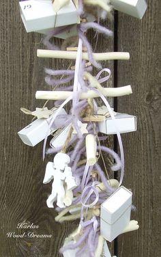Adventskalender Tenderness, Engel, weiß von Karlas Wood-Dreams auf DaWanda.com