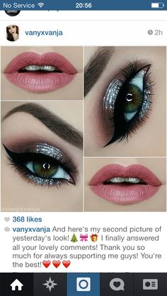 Smokey eye light lip