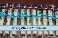 DigiCrumbs: String Cheese Snowmen - Winter PreSchool Snack