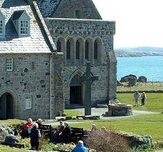 Iona Abbey & Sound of Iona, Scotland by Grangeburn, via Flickr