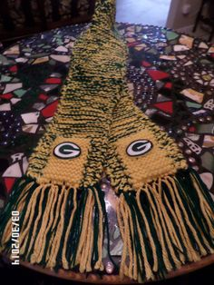 NFL Green Bay Packers Knitted Scarf GO PACKERS by ItsJustStuFFFF, $60.00