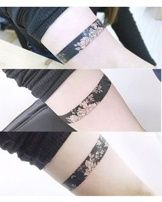Flower arm band tattoo - tattooist_banul