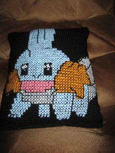 Mudkip Pokemon Pillow by SmallChangeCrafts on Etsy, $60.00