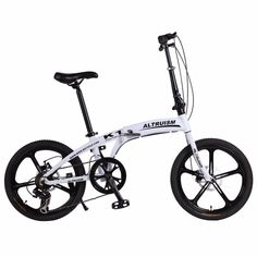Altruism K1 Folding bicycles 7 speed 20inch Aluminum One round complete mountain bike for mens womens white kid's bicycle | #BICYCLES #LADIESBIKE