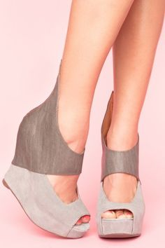 Two tone grey wedge