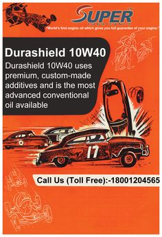#Durashield10W40 Durashield 10W40 uses premium, custom-made additives and is the most advanced conventional oil available.For more details visit at:https://goo.gl/TCACG3