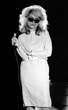 Debbie Harry pendant l'enregistrement du single Picture This aux studios Isleworth, à Londres, le 21 août 1978 pour Chrysalis Records