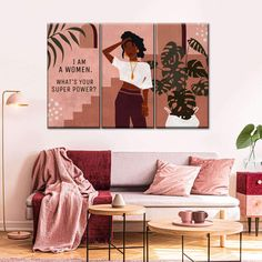 Canvas Wall Art, Canvas Prints, Custom Wall Murals, Femininity, Women Empowerment, Modern Decor, Woman, Unique, Room