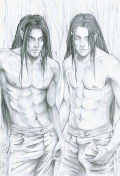Elladan and Elrohir, by SelenaHhttp://markedasinfernal.tumblr.com/post/52713535692/elladan-and-elrohir-by-selenah