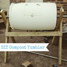The Coleman Homestead: DIY Compost Tumbler!
