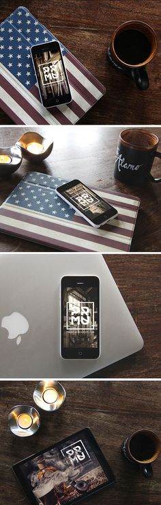 iPhone & iPad Photo MockUps | GraphicBurger