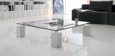 Design Ideas coffee table for modern living room - white glass Modern White Living Room, Simple Living Room, Modern Glass Coffee Table, Coffee Table Design, Design Furniture, Furniture Showroom, Furniture Stores, Accent Furniture, Modern Furniture