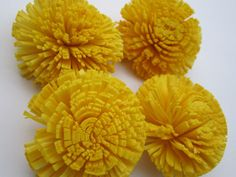 Sola mum flowers   SET of 12   Sunny Yellow by SuperiorCraftSupply, $9.95