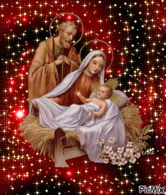 Create personalized and animated photo montages. Send your own stamps or use those of other members to create your PicMixs! Merry Christmas Gif, Christmas Pictures, Christmas Art, Vintage Christmas, Funny Happy Birthday Wishes, Navratri Images, Pictures Of Jesus Christ, Images Of Mary, Birth Of Jesus