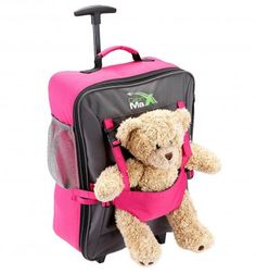 Shop for Cabin Max Bear Childrens Luggage Carry on Trolley Suitcase. Get free delivery On EVERYTHING* Overstock - Your Online Kids' Luggage & Bags Shop! Childrens Suitcases, Childrens Luggage, Kids Luggage, Hand Luggage, Carry On Luggage, Travel Luggage, Luggage Bags, Travel Bags, Mochila Trolley