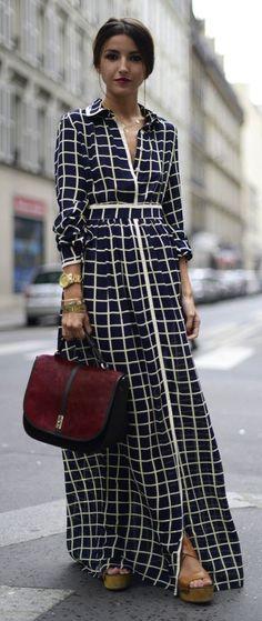 Maxi dress via @Samantha @This Home Sweet Home Blog Hahn