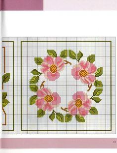 Ring of Roses Cross Stitch Heart, Cross Stitch Borders, Cross Stitch Flowers, Counted Cross Stitch Patterns, Cross Stitch Designs, Hardanger Embroidery, Cross Stitch Embroidery, Pin Cushions, Drawing S