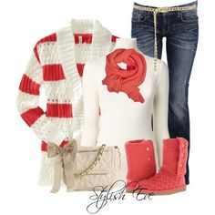 Comfy, but I can't do white...cute though Stylish Eve 2013 Winter Outfits: Let it snow, let it snow, let it snow!
