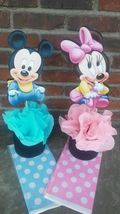 Disney Baby Mickey Mouse or Minnie Mouse by VeeVeeDesignes on Etsy
