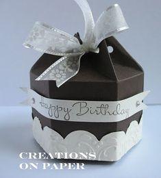 Papier Box mit Stanze Milchkarton von Stampin Up /  cute box made using stampin up big shot milk carton die