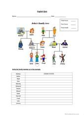 Family members He She worksheet - Free ESL printable worksheets made by teachers