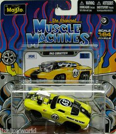 1963 Chevy Corvette MUSCLE MACHINES 2012 By Maisto Release 12 Wave 3