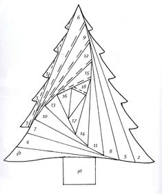 Sapin de Noël en irish folding                                                                                                                                                     Plus