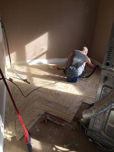 Installing Herringbone Tile Tips DIY Herringbone Tile Tips Interior Paint Colors For Living Room, Room Paint Colors, Paint Colors For Home, Brick Flooring, Floors, Worldly Gray, Herringbone Tile, Dining Nook, Wood Countertops