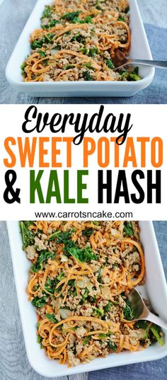 Everyday Sweet Potato + Kale Hash - Carrots 'N' Cake