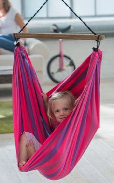 The Pink Lori Organic Child's Hammock Chair helps promoted balance, coordination as well as general development and it is a nice place to be calmly swing and enjoy your day. Adding Kids Hammock Chair